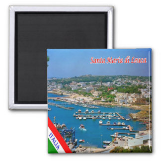 IT - Italy - Salento - Santa Maria di Leuca 2 Inch Square Magnet