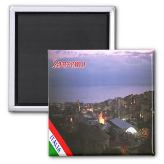 IT - Italy - Sanremo 2 Inch Square Magnet