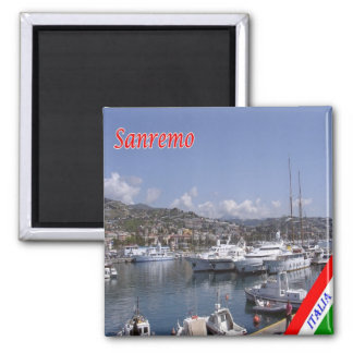 IT - Italy - Sanremo - Port 2 Inch Square Magnet