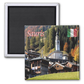 IT - Italy - Sauris - Panorama 2 Inch Square Magnet