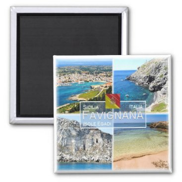 Beach Themed IT Italy # Sicily - Favignana island - Magnet