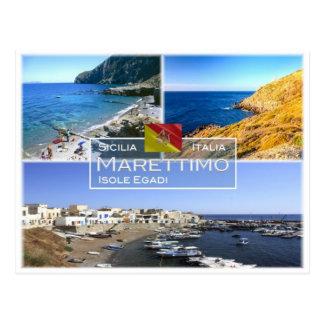 IT Italy - Sicily - Isola di Marettimo - Egadi - Postcard