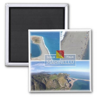 Beach Themed IT Italy # Sicily - Marinello Nature Reserve - Magnet