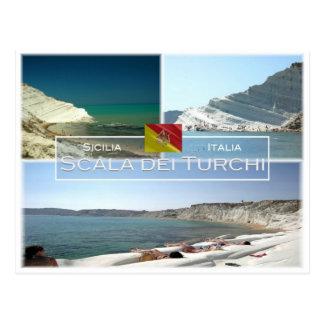 IT Italy - Sicily - Scala dei Turchi - Postcard