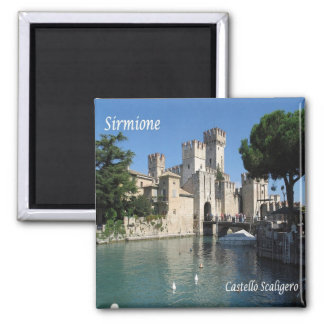 IT - Italy - Sirmione - Castle Scaligero 2 Inch Square Magnet