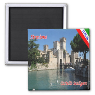 IT - Italy - Sirmione  - Castle Scaligero Magnet