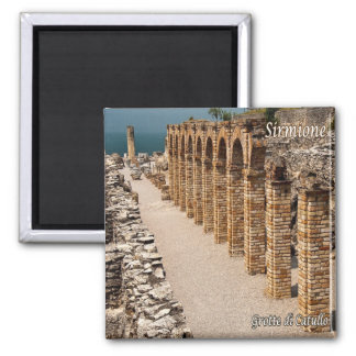 IT - Italy - Sirmione - Caves of Catullo 2 Inch Square Magnet