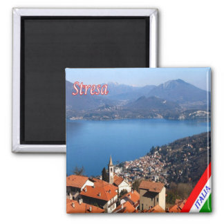 IT - Italy - Stresa - Panorama 2 Inch Square Magnet