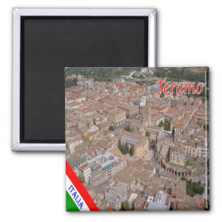 IT - Italy - Teramo 2 Inch Square Magnet