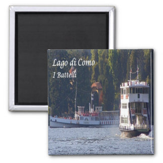 IT - Italy - The Boats 2 Inch Square Magnet