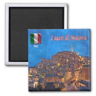 IT - Italy - The Sassi of Matera 2 Inch Square Magnet