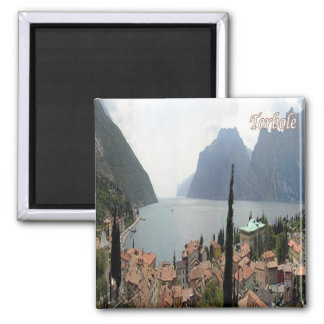 IT - Italy - Torbole - Panorama 2 Inch Square Magnet