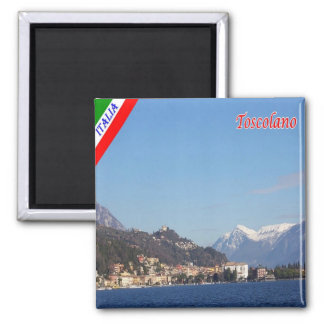IT - Italy -  Toscolano - Panorama 2 Inch Square Magnet