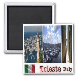 IT - Italy - Trieste - Collage Mosaic 2 Inch Square Magnet