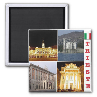 IT - Italy - Trieste - Collage Mosaic Magnet
