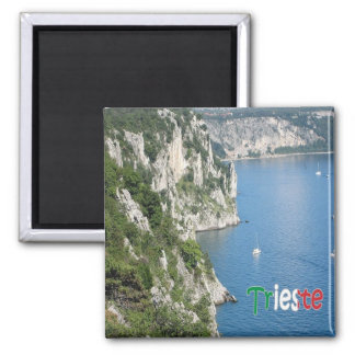 IT - Italy - Trieste - Path Rilke 2 Inch Square Magnet