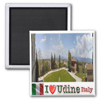 IT - Italy - Udine - Panorama Castello - I Love 2 Inch Square Magnet