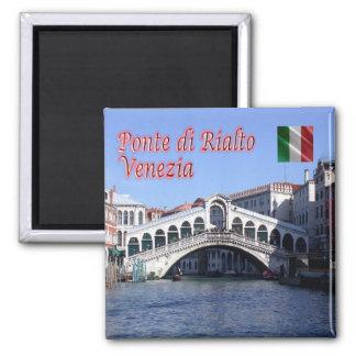 IT - Italy - Venice - Rialto Bridge 2 Inch Square Magnet