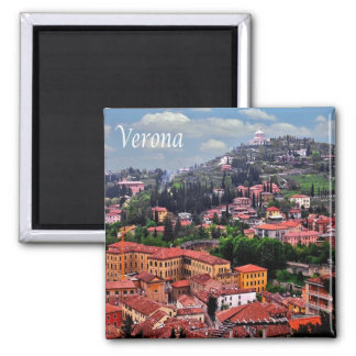 IT - Italy - Verona - Panorama 2 Inch Square Magnet