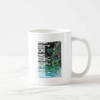 It lives with the wind. coffee mug