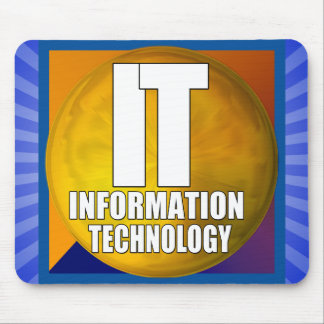 IT LOGO - INFORMATION TECHNOLOGY MOUSE PAD