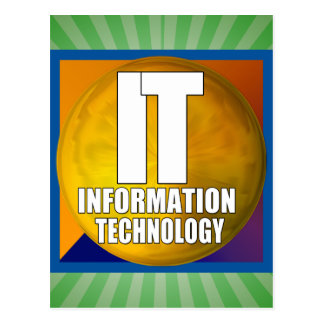 IT LOGO - INFORMATION TECHNOLOGY POSTCARD