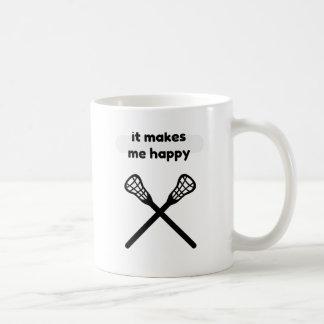 It Makes Makes Me Happy-Lacrosse Coffee Mug