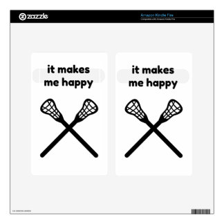 It Makes Makes Me Happy-Lacrosse Decals For Kindle Fire