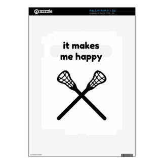 It Makes Makes Me Happy-Lacrosse Decals For The iPad 2
