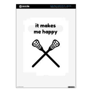 It Makes Makes Me Happy-Lacrosse iPad 3 Skin