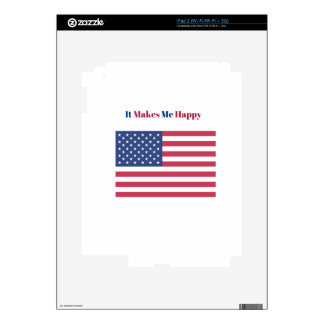 It Makes Me happy- American flag Decals For The iPad 2