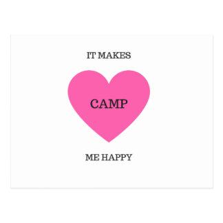 It Makes Me Happy- Camp Postcard