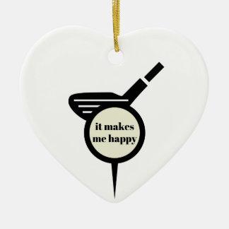 It Makes Me Happy-Golf Mug Ceramic Ornament