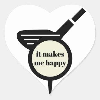 It Makes Me Happy-Golf Mug Heart Sticker