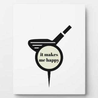 It Makes Me Happy-Golf Mug Plaque