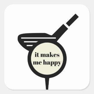 It Makes Me Happy-Golf Mug Square Sticker