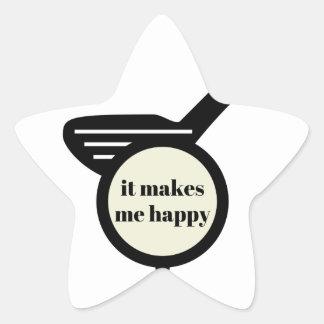 It Makes Me Happy-Golf Mug Star Sticker
