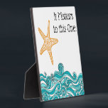 "It Matters to This One Starfish Plaque<br><div class=""desc"">Based on the beloved &quot;Starfish Story&quot;-- encouragement to make a difference, even if it seems small and insignificant. ""Once upon a time, there was a wise man who used to go to the ocean to do his writing. He had a habit of walking on the beach before he began his...</div>"