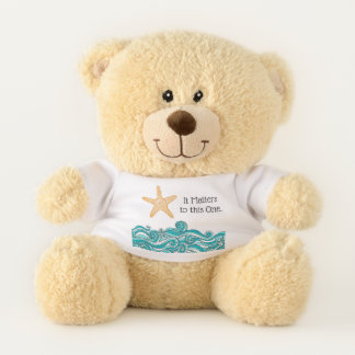 It Matters to This One Starfish Teddy Bear