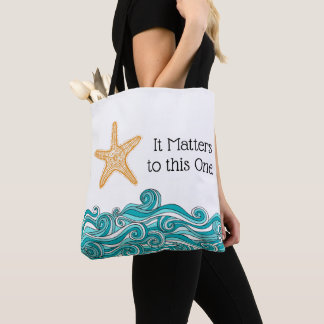 It Matters to This One Starfish Tote Bag