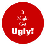 It Might Get Ugly Tacky Sweater Holiday Party Card