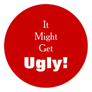 It Might Get Ugly Tacky Sweater Holiday Party Card at Zazzle