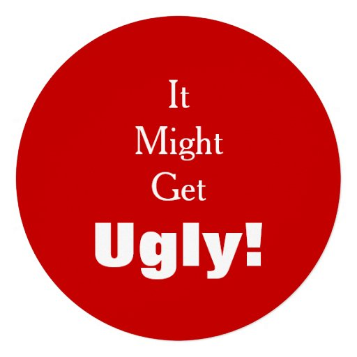 It Might Get Ugly Tacky Sweater Holiday Party Custom Invitation
