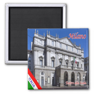 IT Milan - New Royal-Ducal Theatre alla Scala 2 Inch Square Magnet