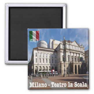 IT - Milan New Royal-Ducal Theatre alla Scala 2 Inch Square Magnet