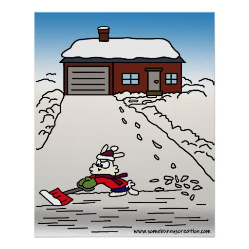 It Must Be A Tuesday - Shovelling Snow Print