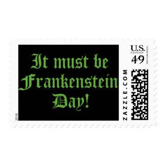 It Must Be Frankenstein Day Postage