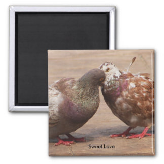 It must be love 2 inch square magnet