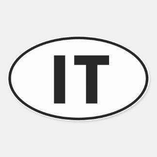 IT Oval Identity Sign Oval Sticker