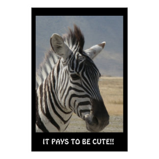 IT PAYS TO BE CUTE! POSTER